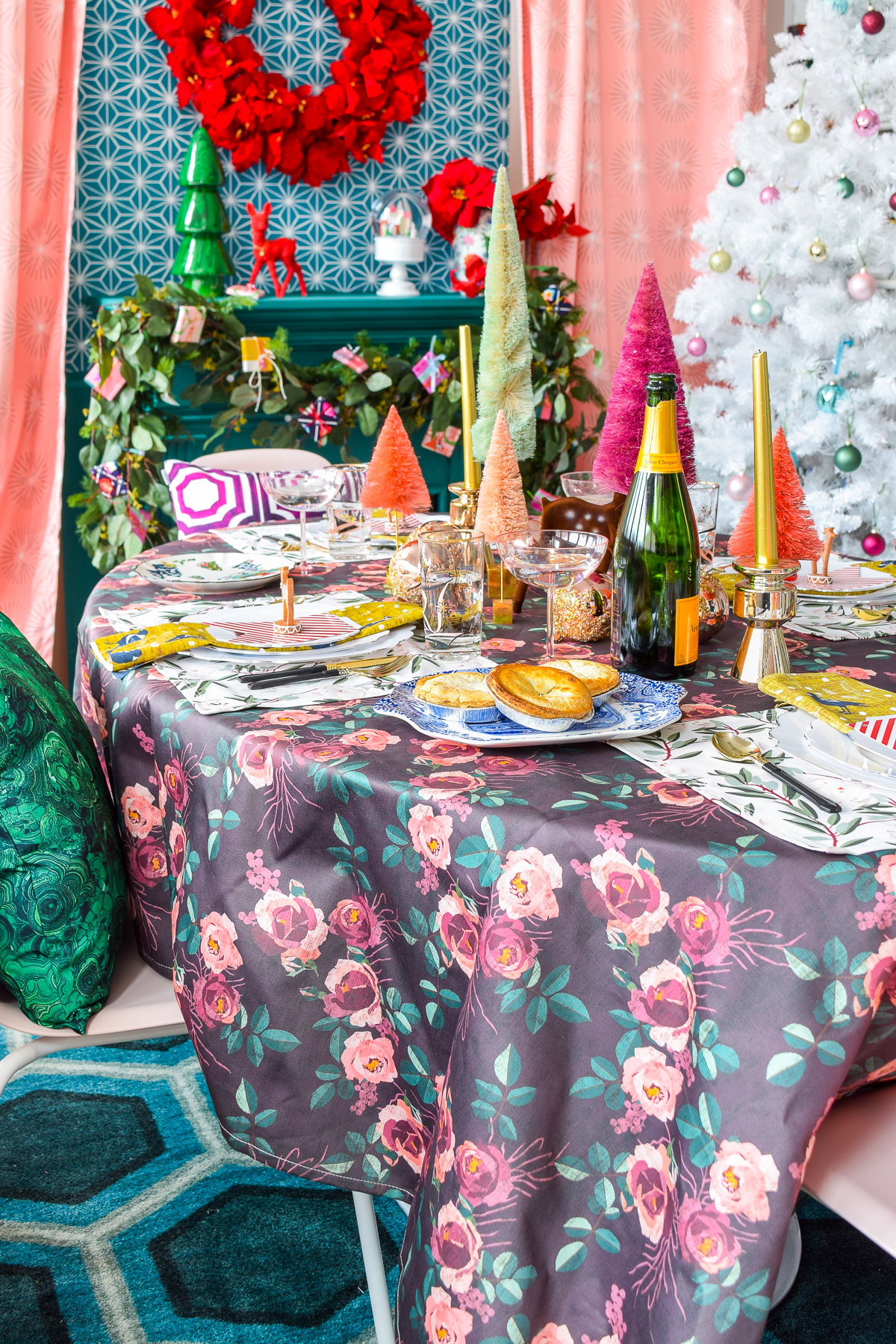 Hosting a Luxurious Christmas Dinner Party is as easy as pulling the right linens and patterns, and creating a warm and welcoming palette in your home. Come see what the heck I'm talking about, and grab my super secret source for all things hostessing!