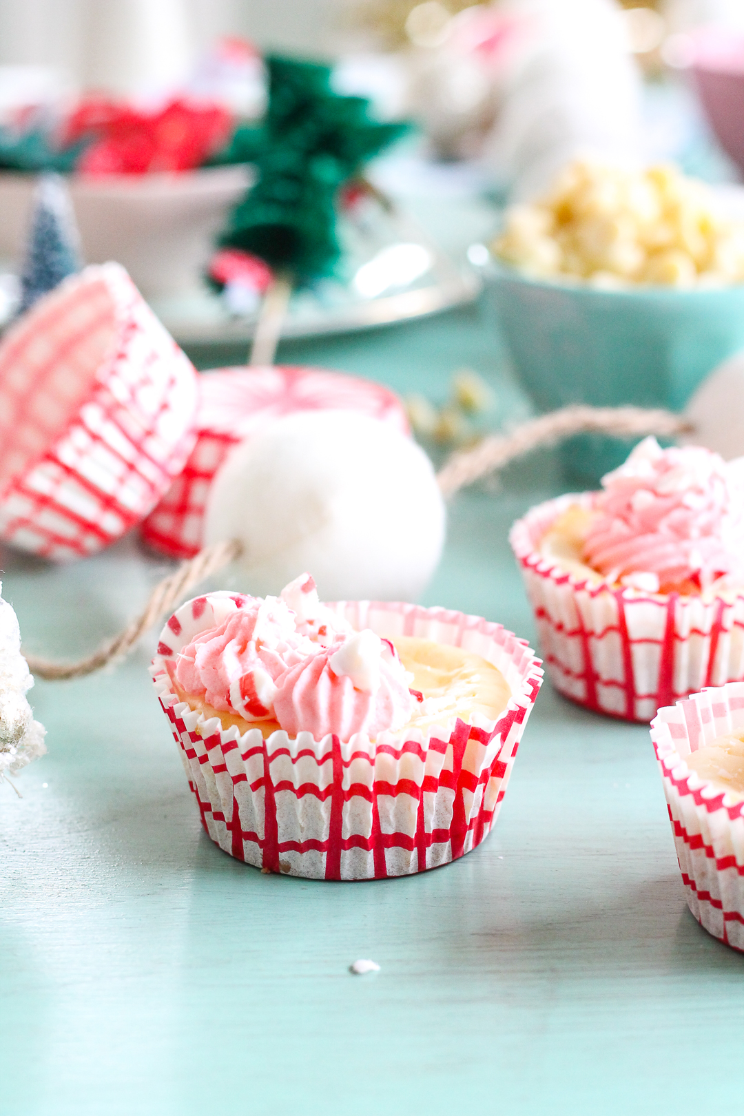 Mini Peppermint Bark Cheesecakes are exactly what you need to make it through this season. Come grab the recipe and see how easy it is to make them yourself!