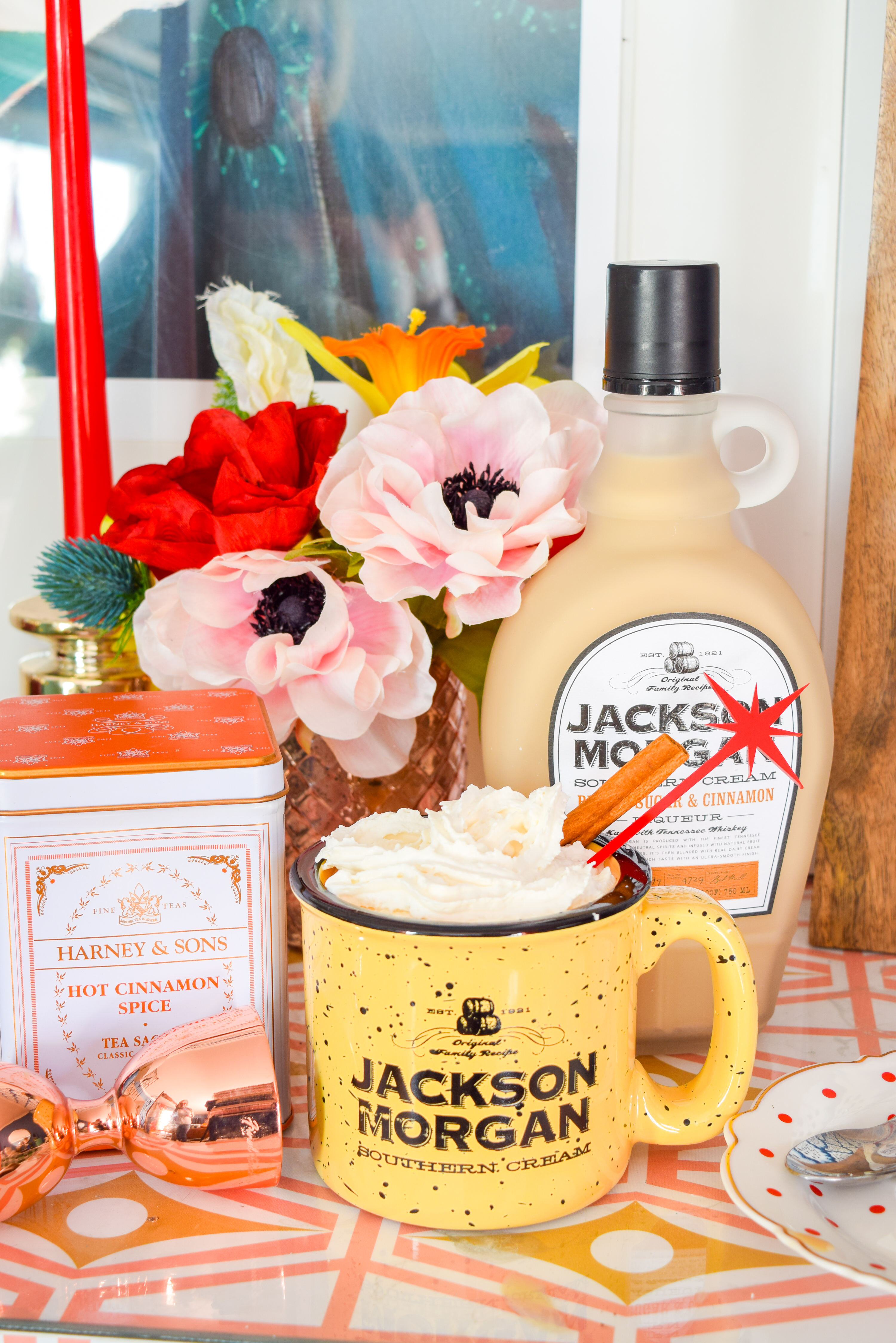 I said brrrr! It's cold in here! You gotta get some Brown sugar & Cinnamon Hot Toddies up in this atmosphere. Oh, and some Brown Sugar & Cinnamon Jackson Morgan Southern Cream.