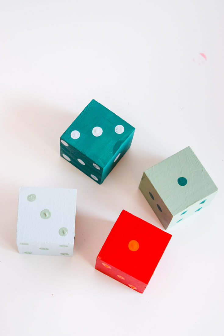 painted dice