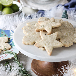 Rosemary Lime Shortbread Cookies