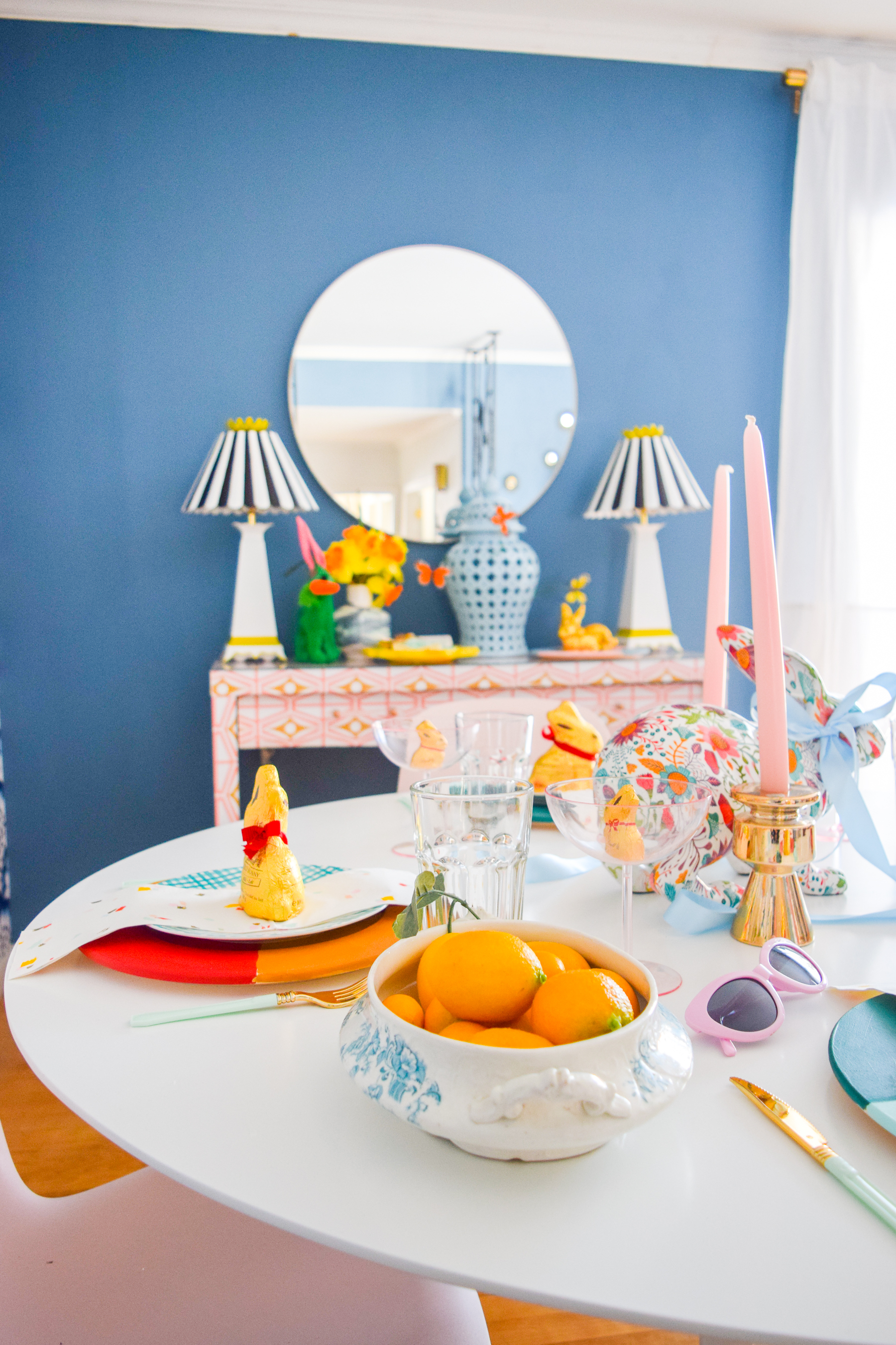 colourful spring house decor can be as simple as bows and flowers, with a dash of sunshine. Come see how I'm ushering-in spring in style.