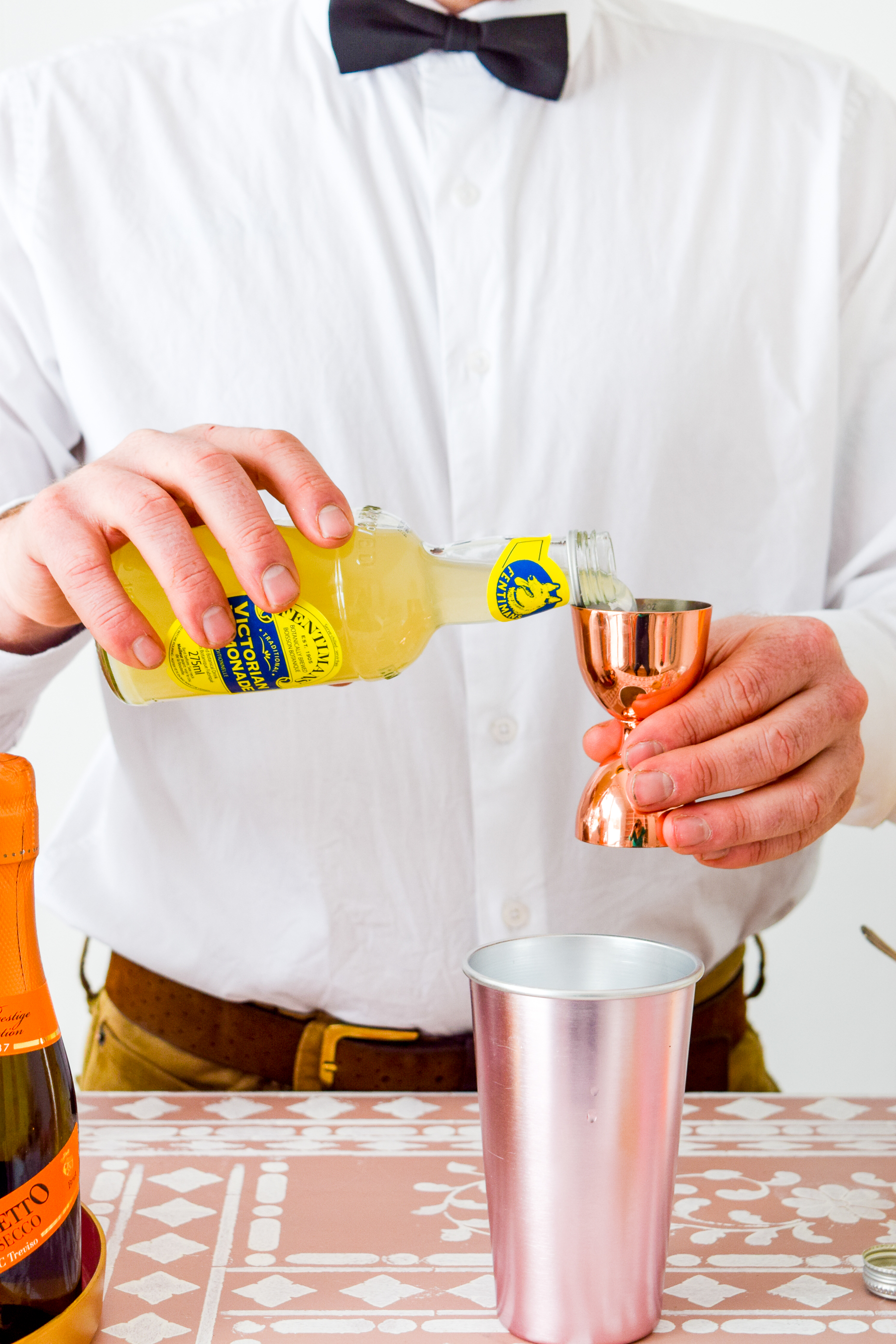 A Lemon Gin Champagne Cocktail is the perfect easter or spring treat, and it goes well with anything! Best part, it's a 3 ingredient cocktail.