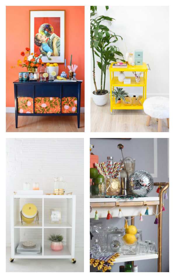 Bar Cart DIYs For Any Season