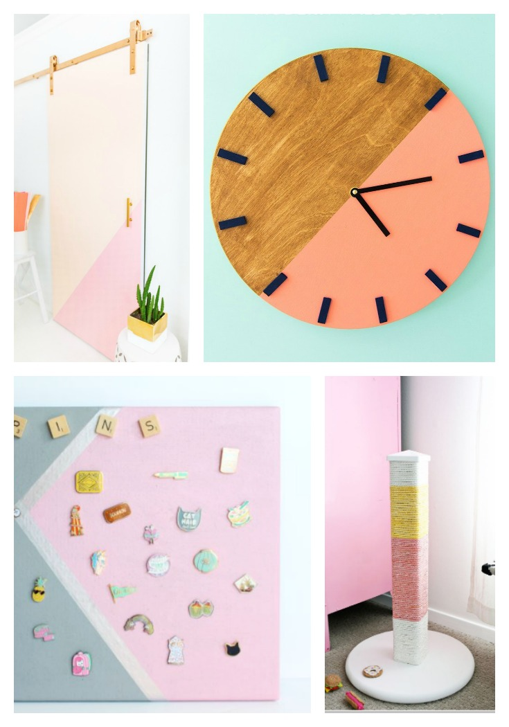 DIY Color Blocking Ideas For Home Decor