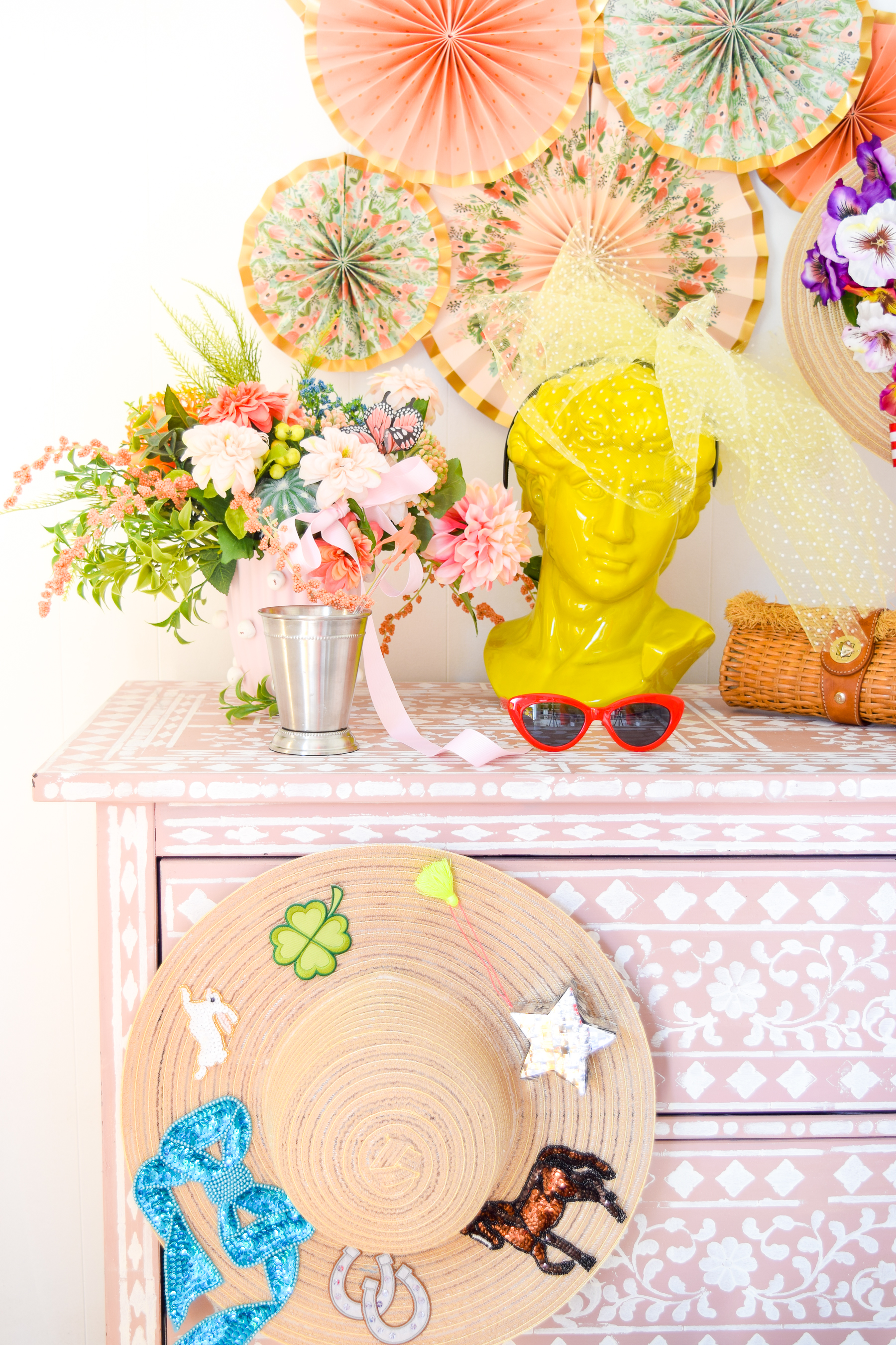 What's a Derby Day party without some DIY Derby Hats & Fascinators! Made using craft supplies and appliques, you can easily make your own.