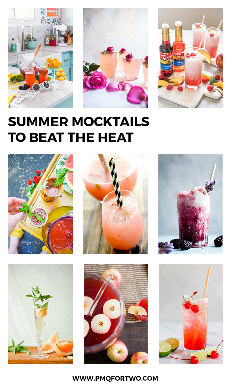 Summer mocktail recipes are where it's at! They're fresh, tasty, and you can always add a shot later if need be. Before your next get together, whip one up.