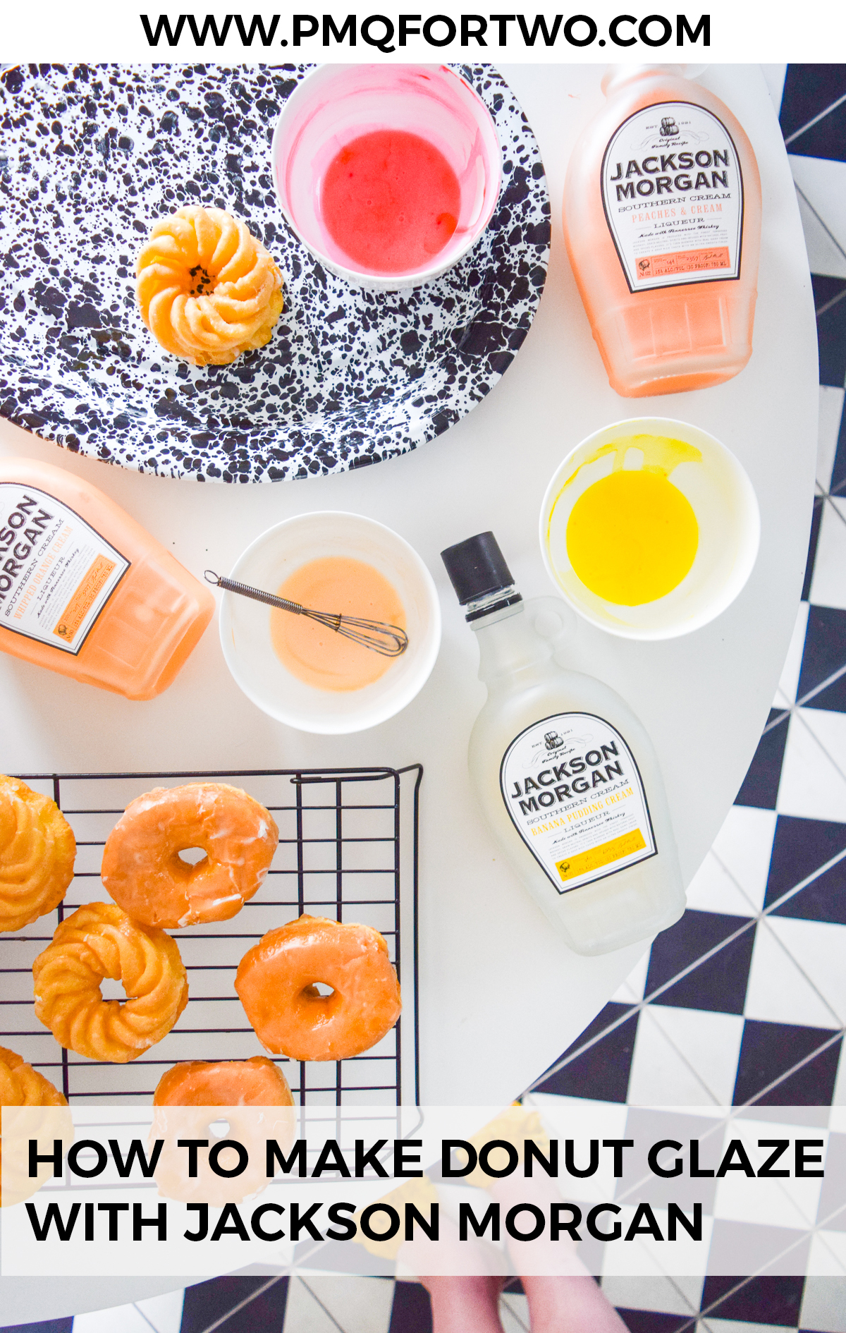 Have you always wondered how to make donut glaze? it's easy! especially when you add Jackson Morgan's summer flavours to your recipe. Give these colorful glazes a try with a dozen store bought faves this weekend.