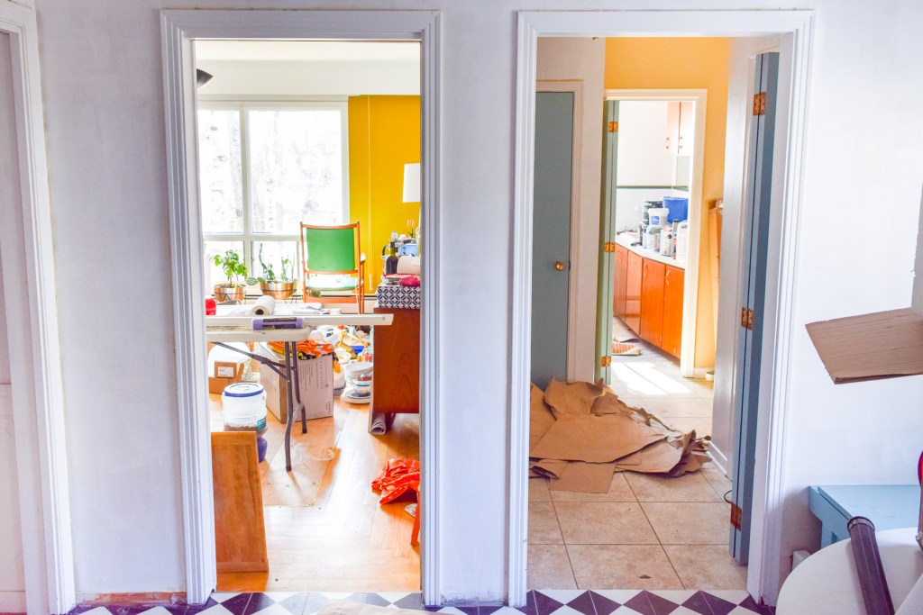 Come see our plans to turn a dysfunctional hallways into the mud room and laundry room of our dreams! Our One Room Challenge Laundry & mud room remodel is one for the books, and you won't want to miss it.