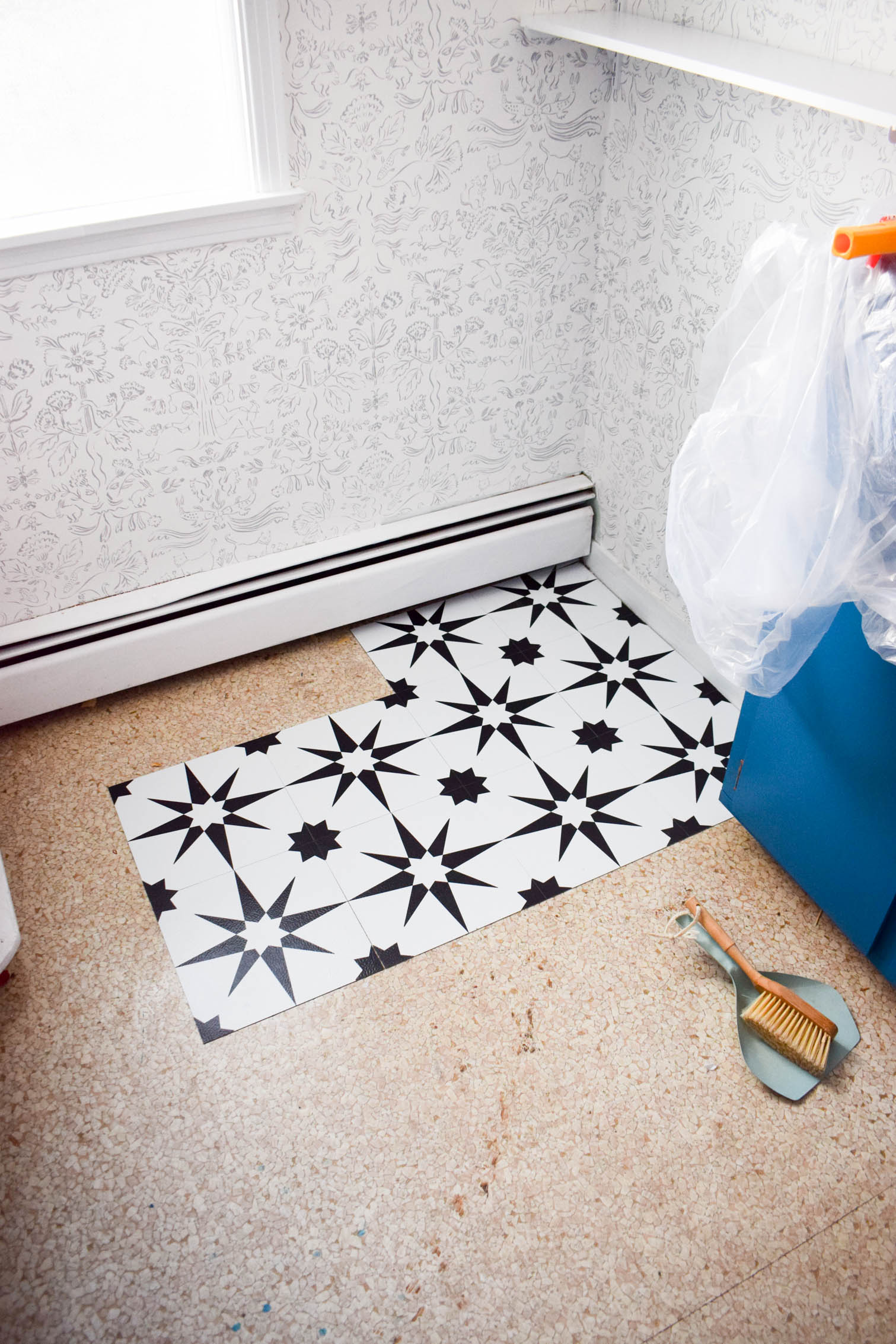 Peel and stick floor tiles are here, and they are the future! They're the perfect solution for renters, budget constraints, or if you just want a new look without the hassle of mortar and grout. My tips on How to install peel and stick floor tiles will show you how easy it is.