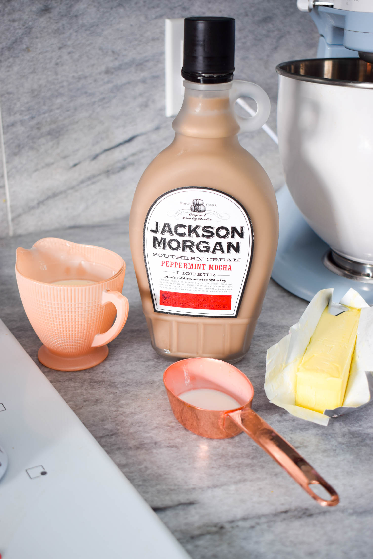 Peppermint Mocha Whiskey Caramel Sauce, because what else could you ever want on waffles or icecream? Make your own using Jackson Morgan's Southern Cream