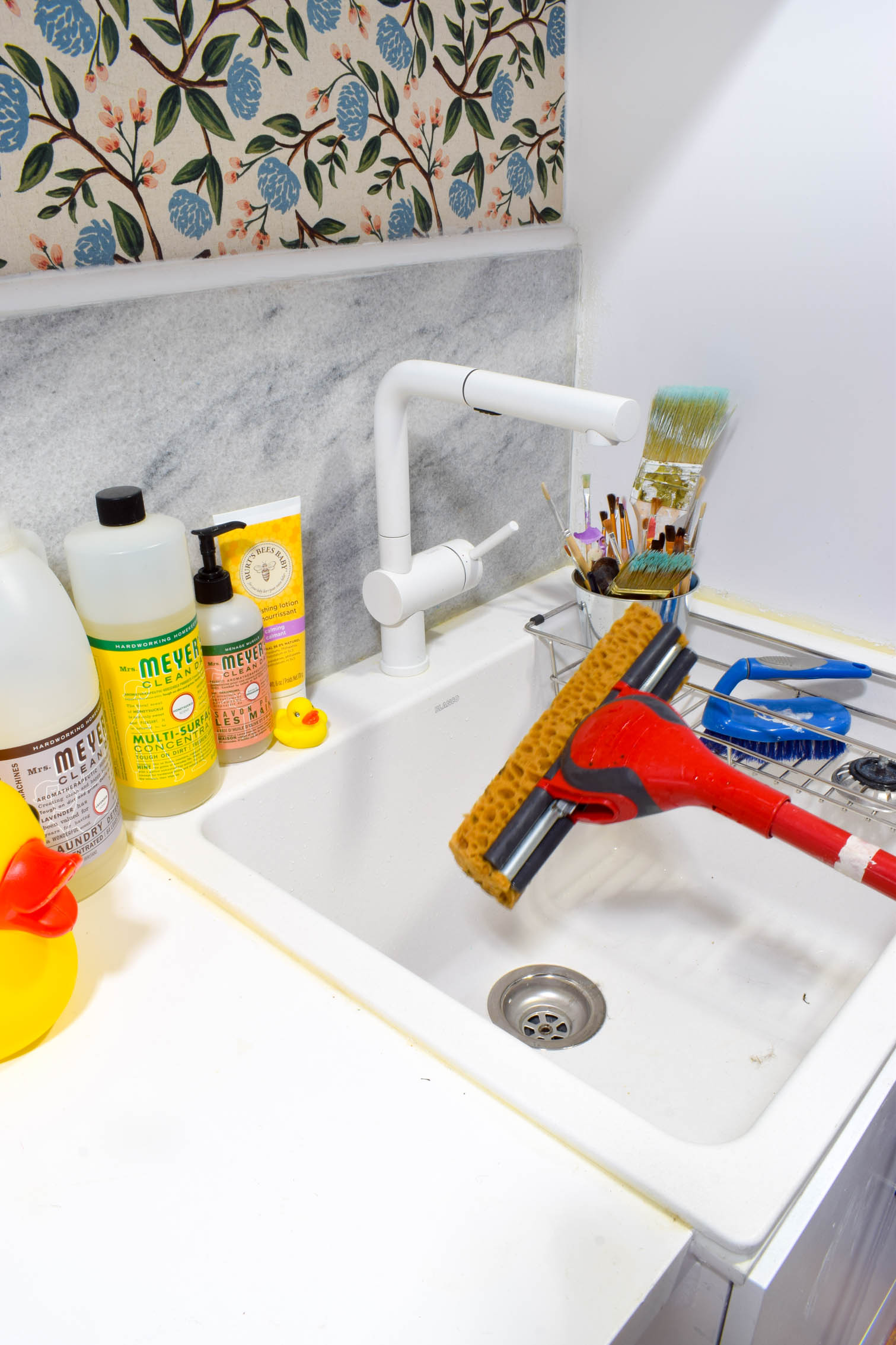 We've got the BLANCO LIVEN Laundry sink in our home, and love it. Combined with the POSH faucet, we can do just about anything a sink to do!