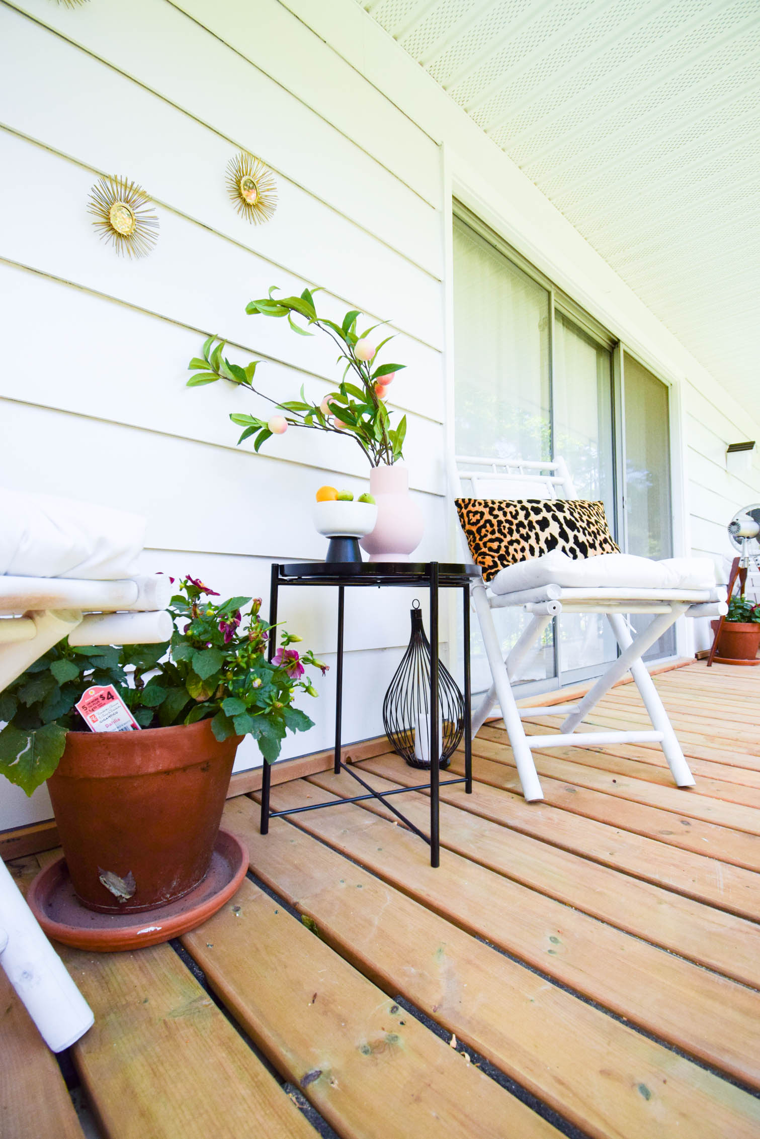 We completely redid our balcony deck using multydeck tiles, available at our local Home Depot. Create a floating deck on any surface with no permits!