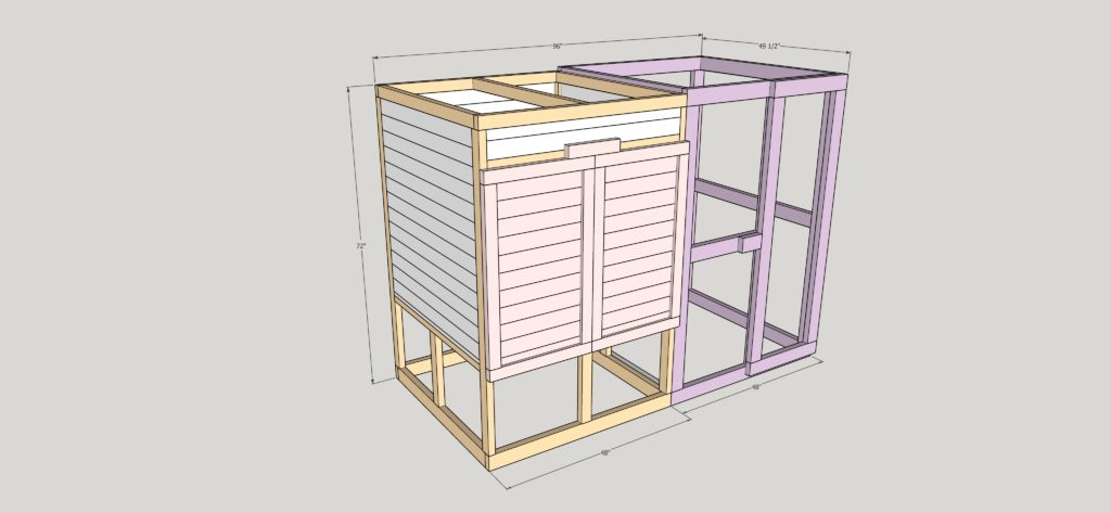 Our urban hen keeping journey began with the coop! We've got our modular urban chicken coop plans, cut list, and more on the blog!