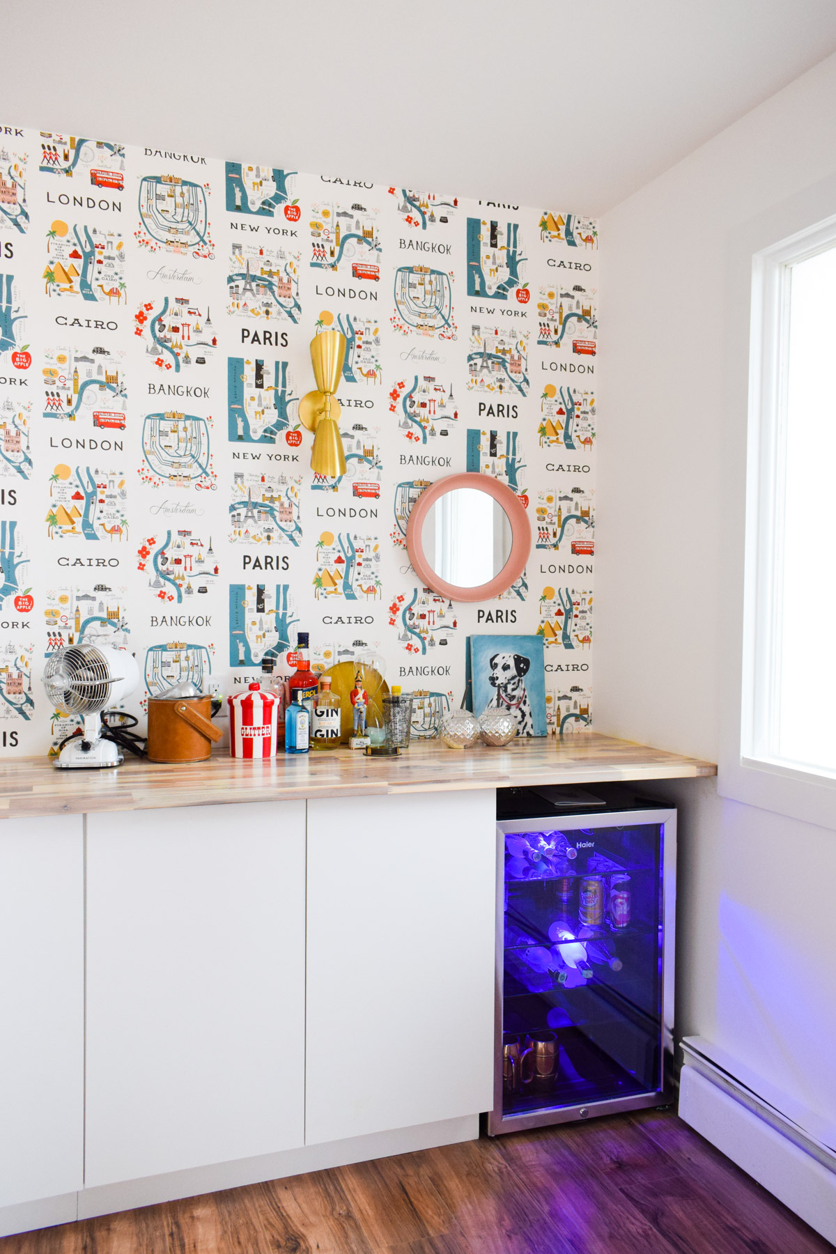 we totally gutted and re-did our MCM Home Wet Bar, and you'll have to see it to believe the transformation!