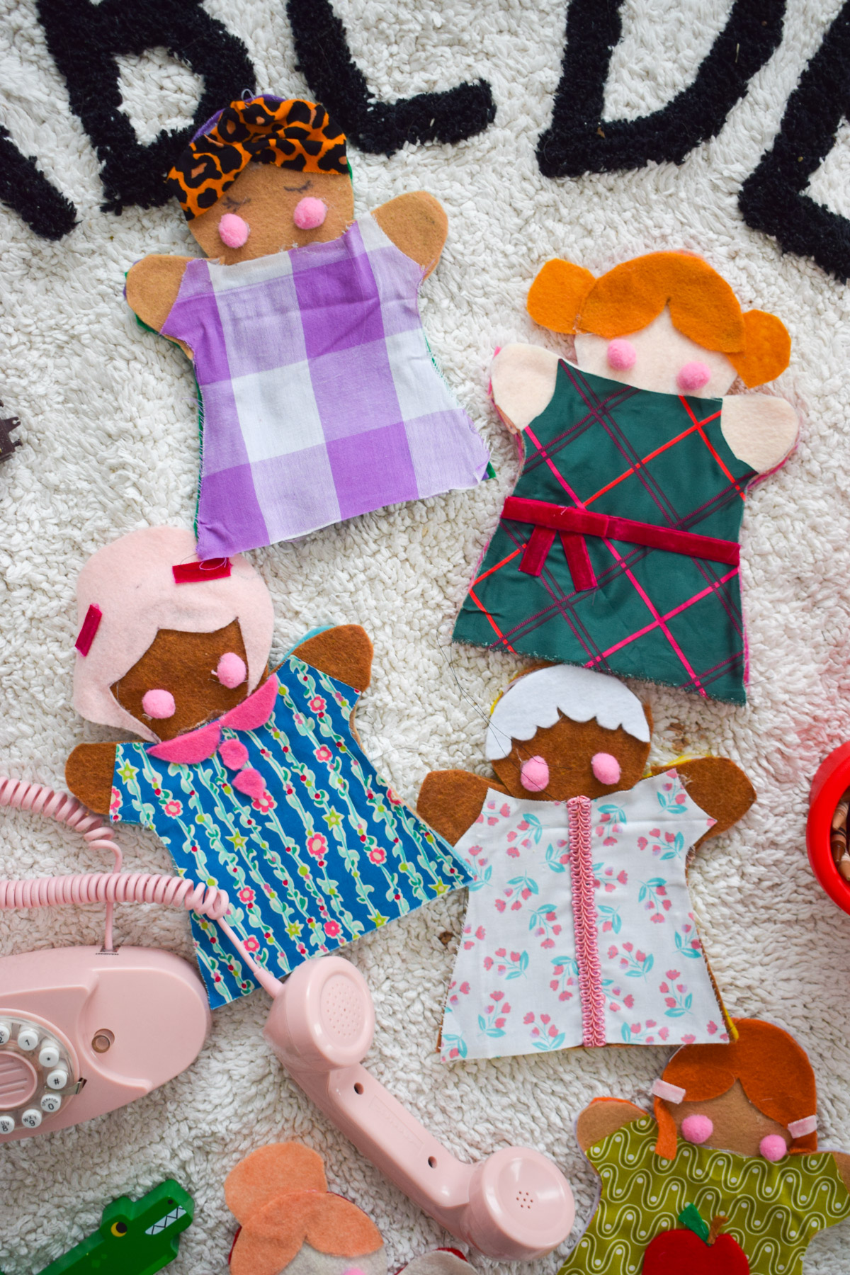 DIY Felt Hand Puppets that are racially inclusive and diverse are our latest Montessori project for June! Come see how I made them.