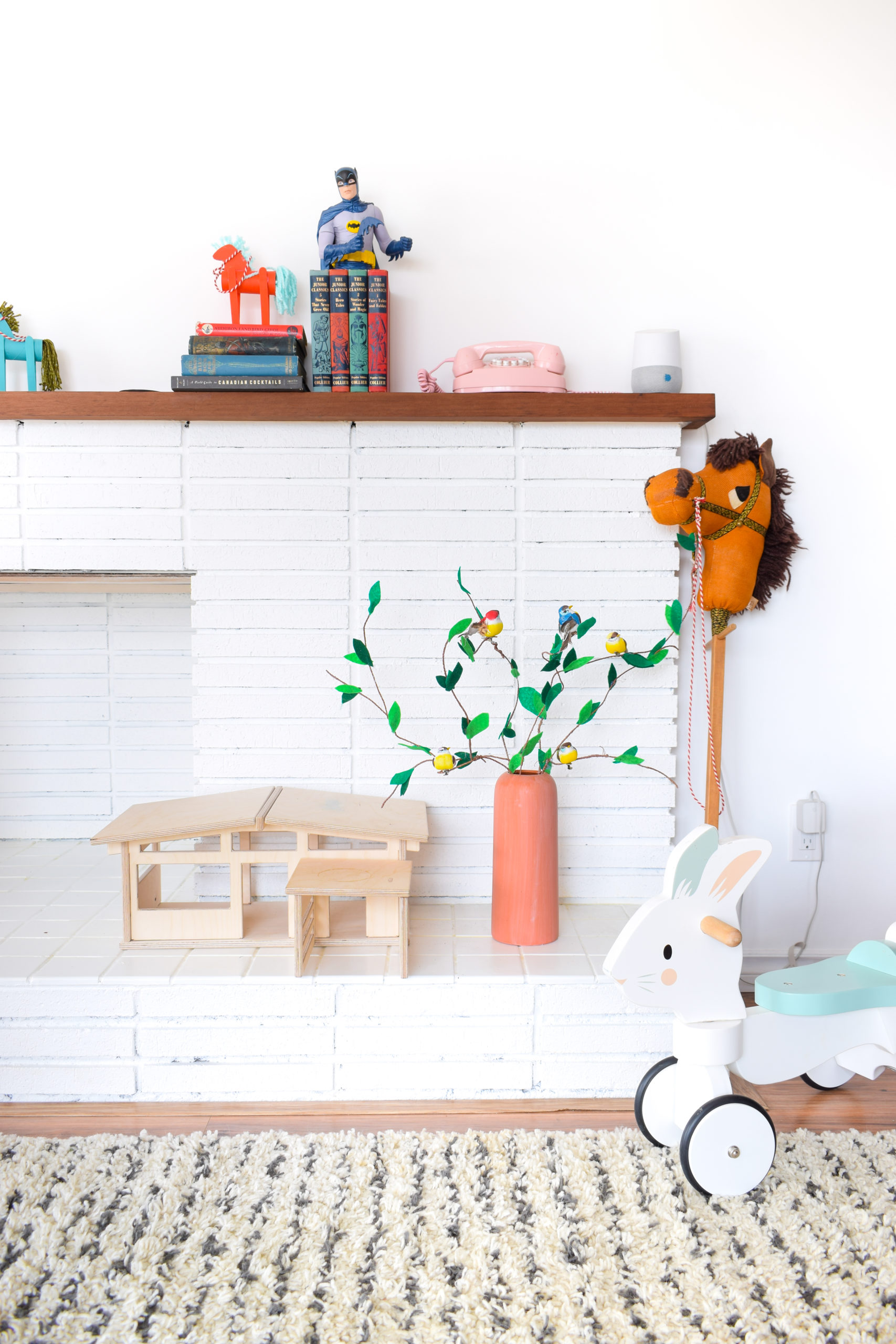 Create DIY Felted Branches aka toddler friendly greenery, using crafting wire, felt, and some little birds. Don't forget the perfect crafting scissors too!