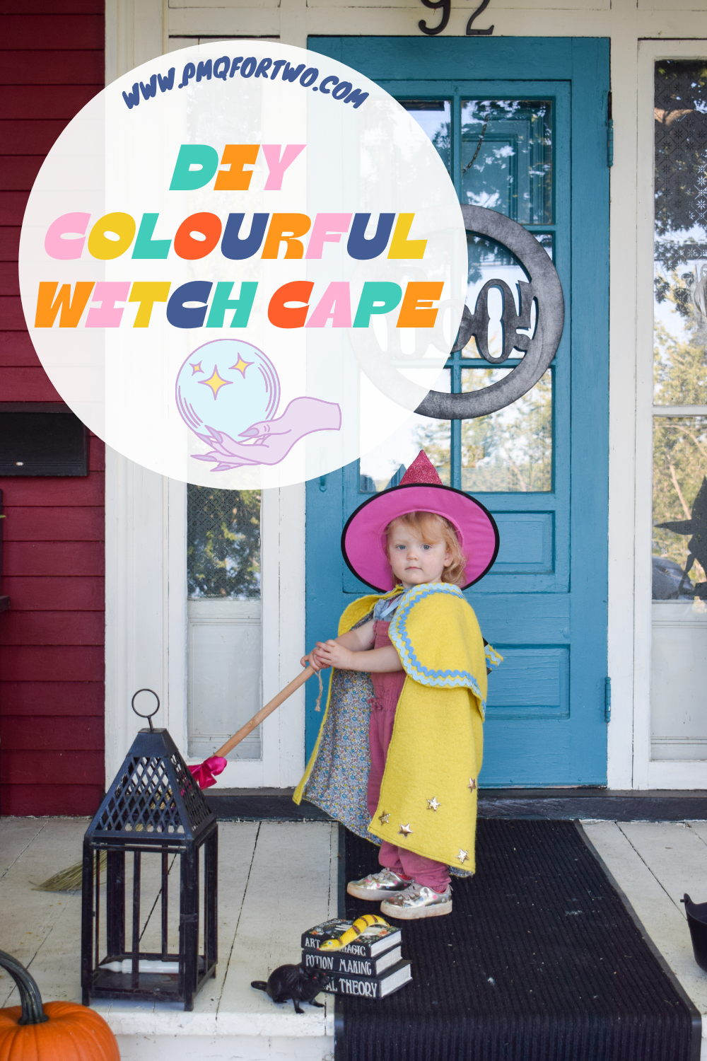 Capes don't have to be black, they can be colourful witch capes for little kids! Make something that will grow with them, and be used year-round.